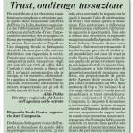 Risposta del dott. Paolo Gaeta al Direttore Regionale del Lazio dell'Agenzia delle Entrate