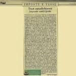 Trust autodichiarati imposte anticipate