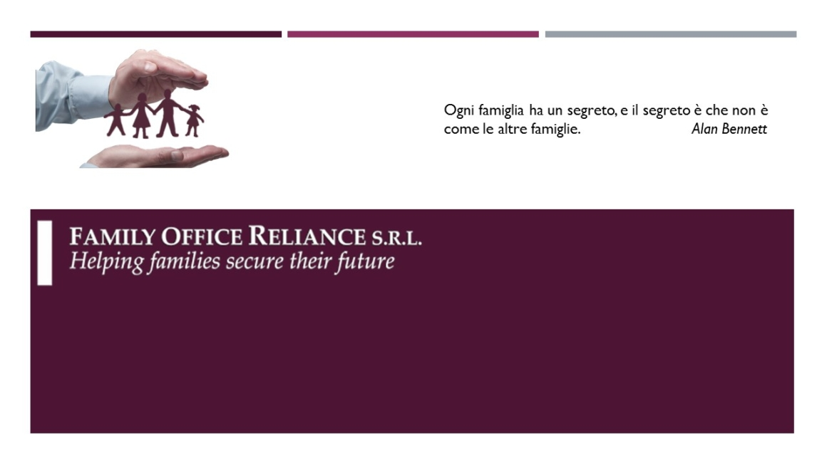 Presentazione di Family Office Reliance srl
